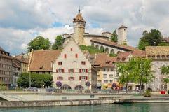 Крепость Munot - Schaffhausen стоковые фотографии rf
