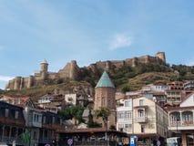 Крепость Narikala Шарм старого города Тбилиси Грузия стоковые фото