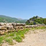 Крепость Nimrod в Израиле Стоковая Фотография