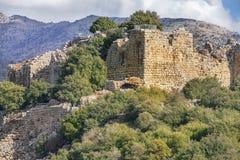 Крепость Nimrod, Голанские высот, Израиль Стоковое Фото