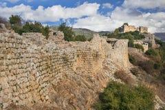 Крепость Nimrod, Голанские высот, Израиль Стоковые Фото