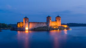 Крепость Olavinlinna стоковое фото rf