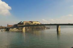 Крепость Petrovaradin в Novi унылом, Сербии Стоковое Изображение