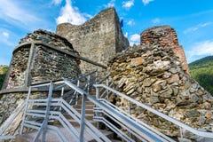 Крепость Poenari, Румыния Стоковая Фотография