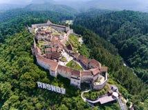 Крепость Rasnov в Brasov, Трансильвании, Румынии Стоковая Фотография RF