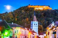 Крепость Rasnov, Трансильвания, Румыния стоковые фотографии rf
