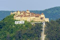 Крепость Rasnov стоковые фотографии rf