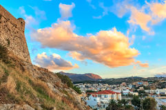 Крепость Rethymno порта Стоковая Фотография