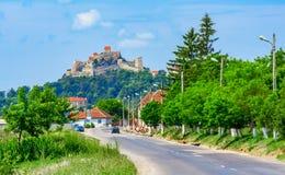 Крепость Rupea, Трансильвания, Румыния: Взгляд улицы средневековой крепости города в области Трансильвании исторической Румынии стоковые изображения