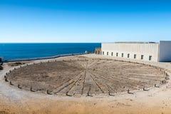 Крепость Sagres подняла в Португалию Стоковые Фото