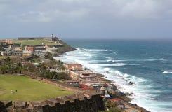 Крепость San Felipe de Morro, Сан-Хуан, Пуэрто-Рико Стоковая Фотография