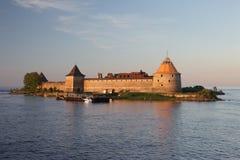 Крепость Schlisselburg на Реке Волга Стоковые Изображения RF