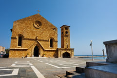 Крепость St Nicholas на гавани Mandraki Стоковое Фото