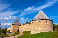Крепость Staraya Ladoga, область Ленинград, Россия стоковое фото