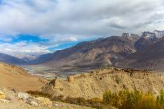 Крепость Yamchun, Ishkashim, Badahshan, Памир Таджикистан Стоковое Фото