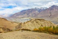 Крепость Yamchun, Ishkashim, Badahshan, Памир Таджикистан Стоковые Фото