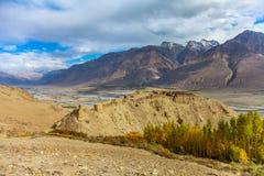 Крепость Yamchun, Ishkashim, Badahshan, Памир Таджикистан Стоковая Фотография