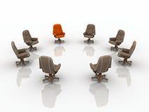 кресла дела 3d Стоковое Изображение RF