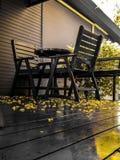 Кресла для отдыха на террасе Стоковое Изображение