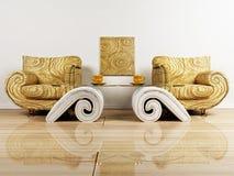 кресла конструируют нутряное место 2 бесплатная иллюстрация
