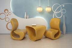 кресла конструируют нутряное самомоднейшее стоковое изображение