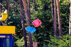 Кресло качания в парке Стоковое фото RF