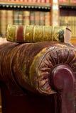 кресло книги коричневое Стоковые Фото