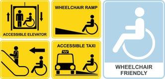 кресло-коляска знака Стоковая Фотография