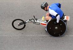 кресло-коляска марафона Стоковые Изображения