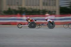 кресло-коляска 8 спортсменов Стоковые Фото