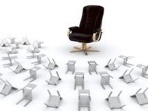 кресло предводительствует croud Стоковое Изображение RF