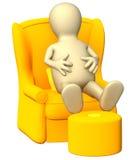 кресло 3d имея нежность остальных марионетки иллюстрация вектора