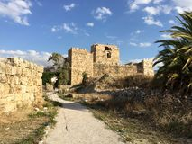крестоносец Ливан замока byblos стоковое изображение