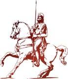 крестоносец иллюстрация вектора