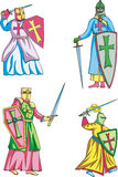 Крестоносцы иллюстрация штока