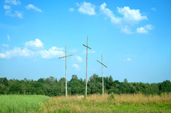 Кресты дерева сиротливые в долине Стоковое Фото