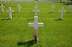 Кресты на американском кладбище Margraten Стоковые Фото