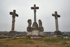 Кресты на холме стоковое фото