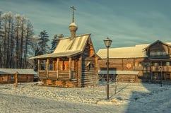 Крестьянский дом и дом прихода Стоковая Фотография RF