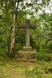 Крест Астурии на трассе Camin Encantau в совете Llanes Природа, перемещение, ландшафты, леса, фантазия стоковая фотография rf