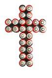крест батарей Стоковые Фото