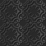 Крест безшовной элегантной темной бумажной кривой картины 006 искусства 3D спиральный Стоковые Фотографии RF