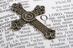 крест библии Стоковая Фотография RF