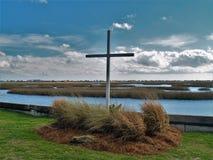 Крест входа Murrells на болоте стоковые изображения rf