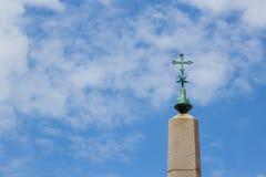 Крест в небе Стоковая Фотография RF