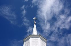 Крест в небе стоковые изображения rf