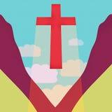 Крест в небе Стоковое Изображение RF