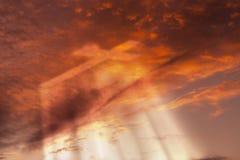 Крест в рае Стоковое Изображение RF