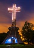 Крест держателя королевский на ноче Стоковое Изображение RF