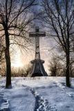 Крест держателя королевский на ноче Стоковые Изображения